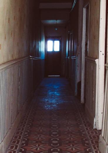 Dark and scary corridor