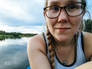 selfie canoeing