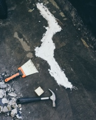 Repairing a cracked concrete floor