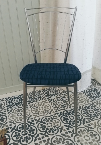 "After: 1930's chair re-upholstered with a Finlayson fabric ""coronna"""