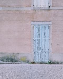 Mazamet photography by Tiina Lilja Pretty pastel coloured doors!
