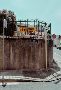 Mazamet photography by Tiina Lilja Signposts and street signs.