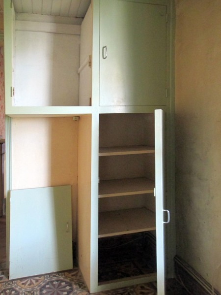 our kitchen cupboards before TLC