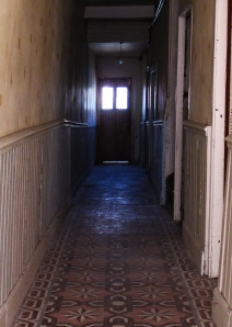 creepy hallway when we first moved in